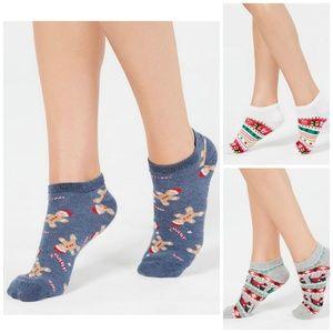 3 Pair Charter Club Women's Low-Cut Holiday Socks